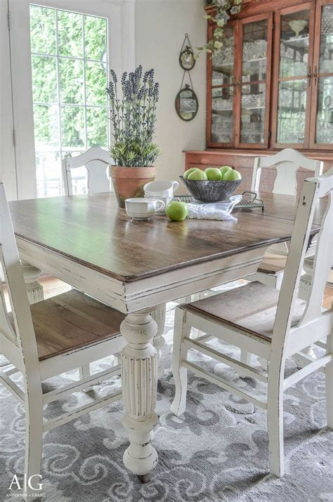 White Kitchen Table Set by Antique Dining Table Updated With Chalk Paint Chalk