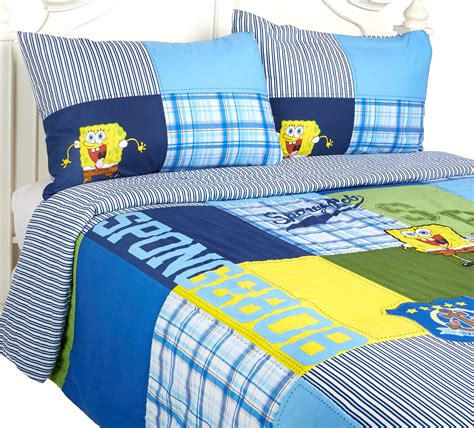 Spongebob Nickelodeon Quilt Set Full Queen Size Pillow Spongebob Bedding