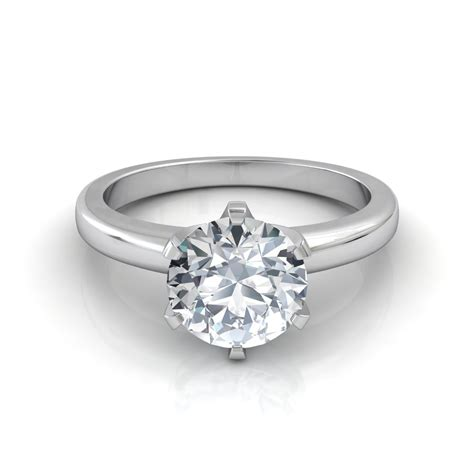 cut six prong solitaire engagement ring