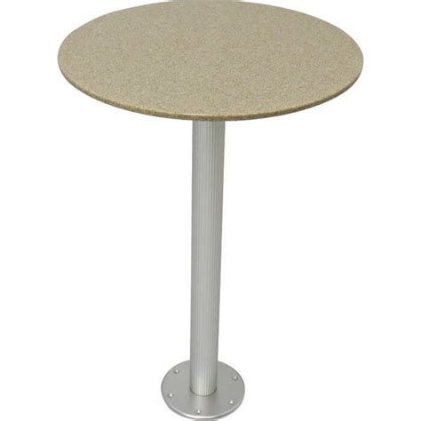 boat table pedestal sandstone corian table with pedestal boat outfitters