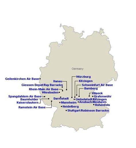 map of us bases in germany 54 best us installations images on