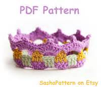 Promo Headband Baby Colourful Flora patterns 3 simple crochet baby crowns pattern