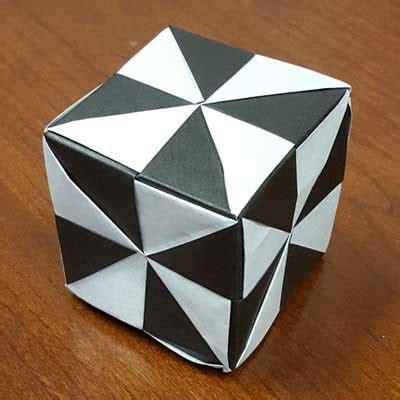 Origami Pinwheel Cube - home ez origami