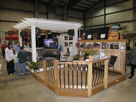home and design show home show display features low maintenance decking