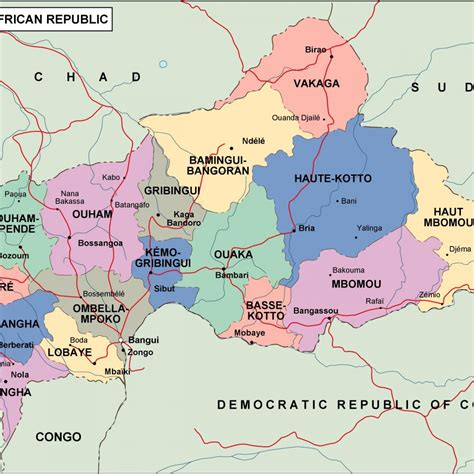 central map central africa political map map of africa