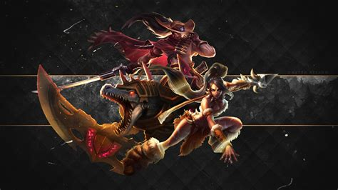 renekton yasuo amp nidalee wallpaper all in one 1600x900