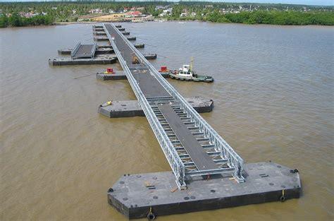 what is a pontoon bridge uniflote pontoon system bridges panel bridges steel
