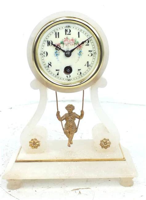 swing clock farcot mantel clock swinging dole clock antique clocks