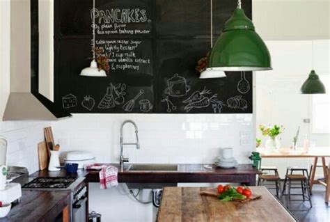 chalkboard lighting in vintage kitchen kitchen love