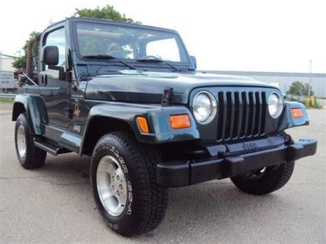 Jeep Wrangler 4 Door Gas Mileage Sell Used 2000 Jeep Wrangler Sport Utility 2 Door 4