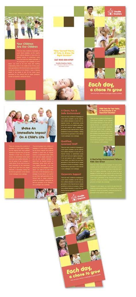 tri fold school brochure template child development school tri fold brochure template