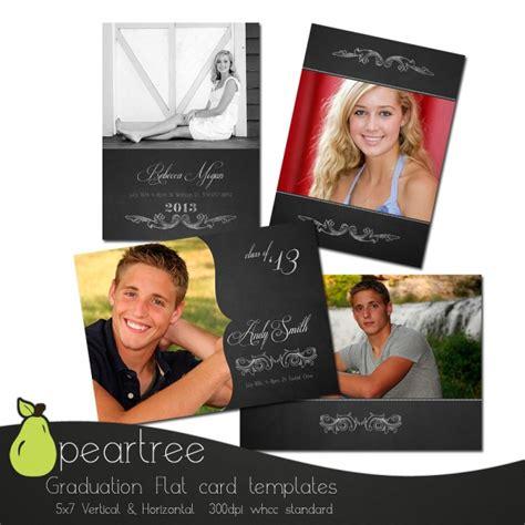 graduation card template landscape psd 5x7in flat card senior graduation psd template