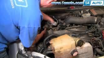how to install replace alternator ford focus zetec dohc 00
