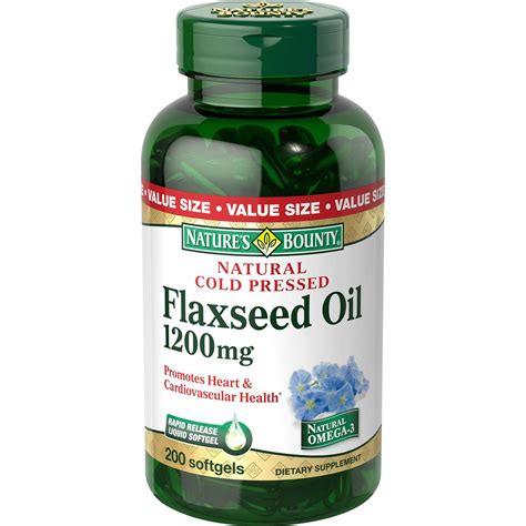 Flaseed Natures Bounty nature s bounty cold pressed flaxseed 1200mg 200 softgels health