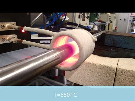 ceia induction heating generator induction heating test using 6 kw and 12 kw ceia generator t 650 176 c