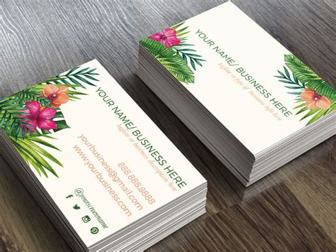 22 Floral Business Cards Free Premium Templates Flower Business Card Template