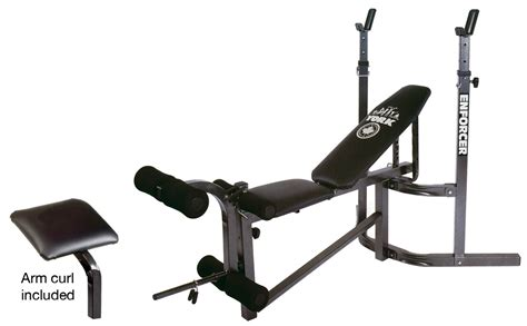 bench barbell york 9300 enforcer bench york barbell