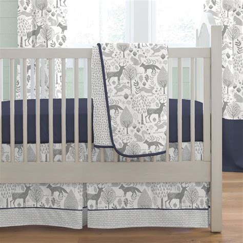 Woodland Animals Crib Bedding Gray Woodland Animals Fabric By The Yard Gray Fabric Carousel Designs