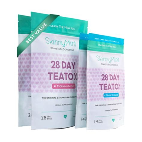 28 Day Tea Detox Uk by Besties Value Teatox 2x28 Day Skinnymint The