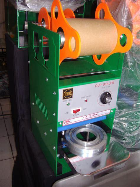 Alat Pres Plastik Tutup Gelas peluang usaha mesin cup sealer alat press gelas plastik