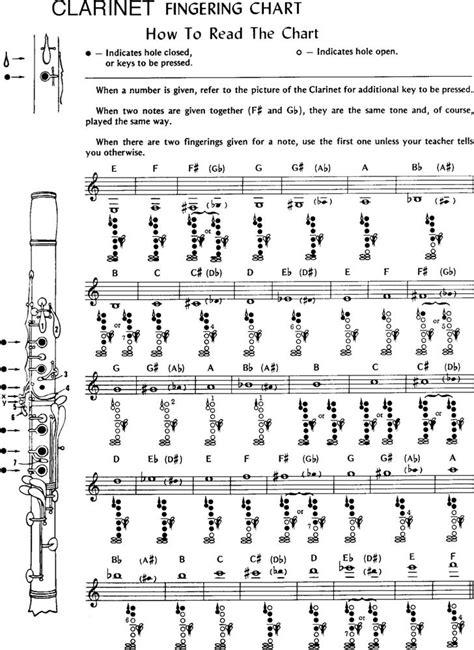 clarinet chart clarinet key chart product description recorder