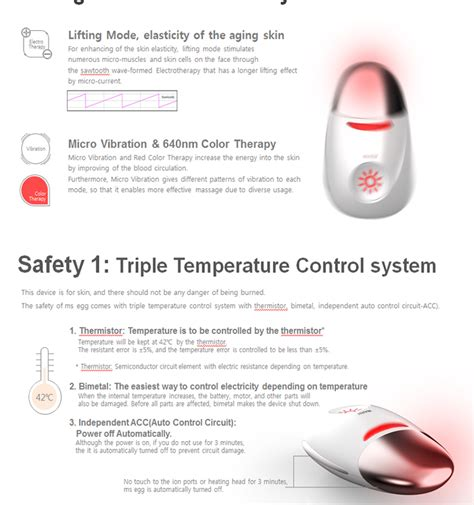 Ms Groosia Skin Care ms egg heating galvanic skincare device equipment massager skin care