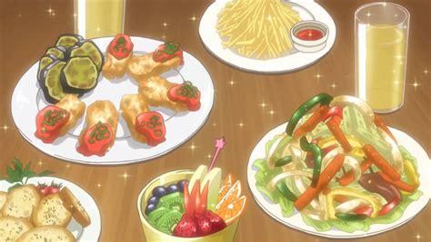 anime food itadakimasu anime feast with bruschetta stir fry