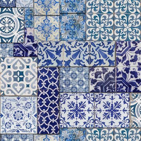 Muriva Moroccan Tiles Wallpaper Blue / White (601547