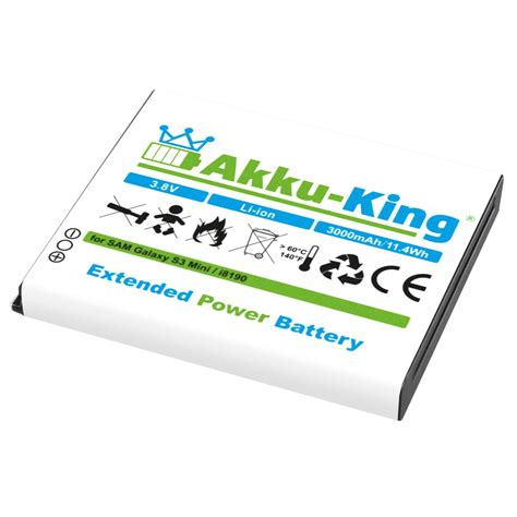 S3 Mini 3000mah Battery Baterei Vizz Power Samsung Galaxy S3 akku king 3000mah power accu f 252 r samsung galaxy s3 mini gt