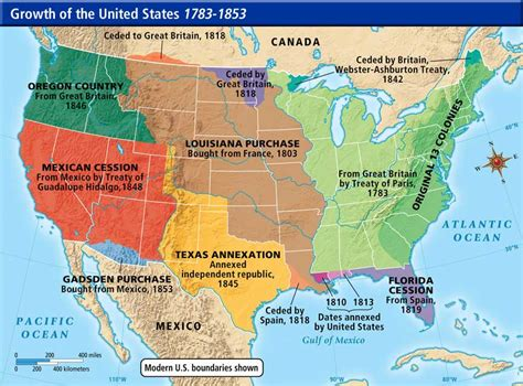 america map in 1783 us history maps