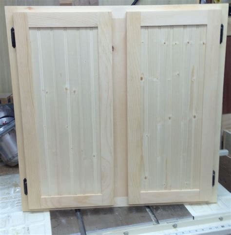 Unfinished Unfurnished Oak Pantry Cabinet Doors For Small
