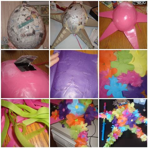 dabbled how to make a flower pinata just in time for