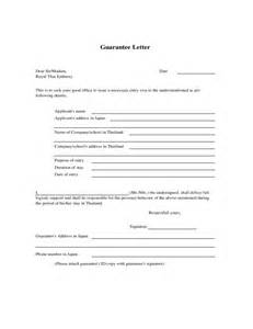 Guarantor Letter Template by Guarantee Letter Free