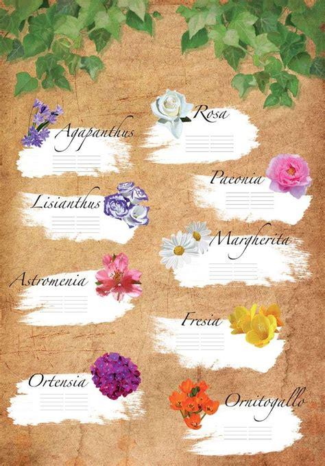 lista nomi fiori tableau matrimonio originali foto 20 32 matrimonio