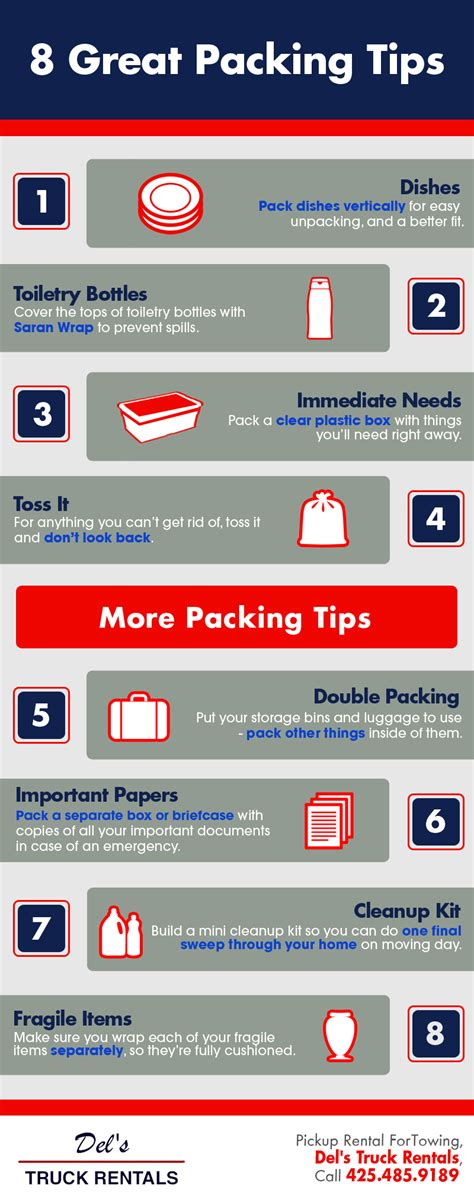 8 Tips On Taking Great Photos by 8 Great Packing Tips Shared Info Graphics