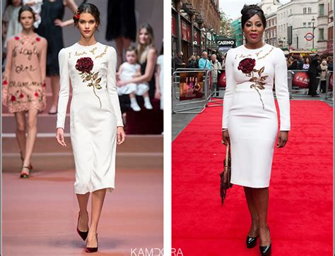 Catwalk To Carpet Alba In Dolce Gabbana by Runway To Carpet Mo Abudu In Dolce And Gabbana Fall