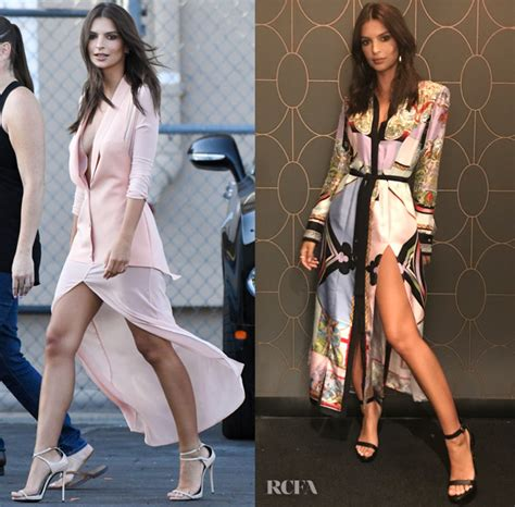 Donatella Versace On Jimmy Kimmel by Emily Ratajkowski Dons La Perla Versace For Jimmy