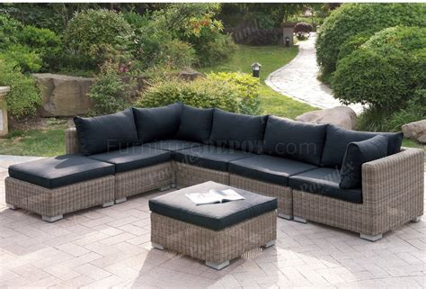 outdoor patio pc sectional sofa set  poundex woptions