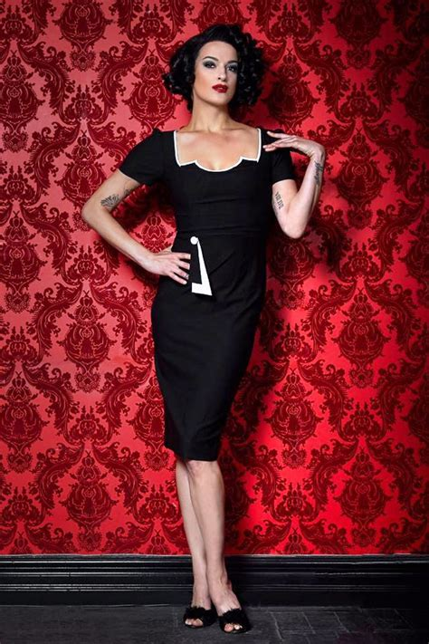 50s cruella pencil dress in black