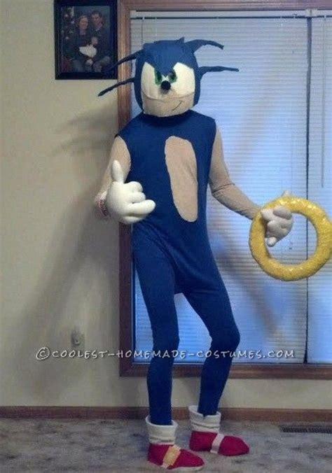 coolest homemade sonic  hedgehog halloween costume