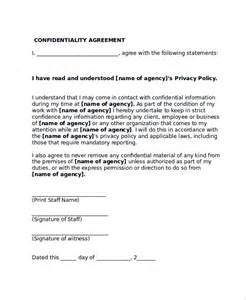 sample confidentiality agreement form 8 documents in