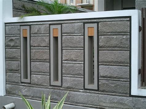 variasi model pagar tembok minimalis  menunjang