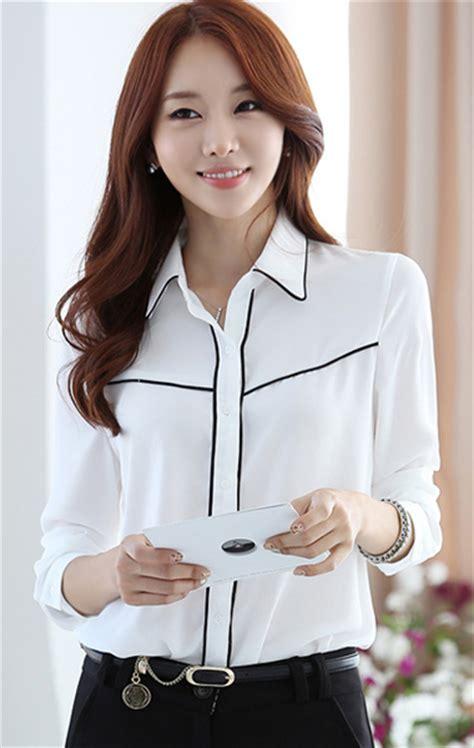 Kemeja Wanita Kemeja Lengan Panjang Kemeja Putih Yb 1 kemeja putih wanita lengan panjang model terbaru jual murah import kerja