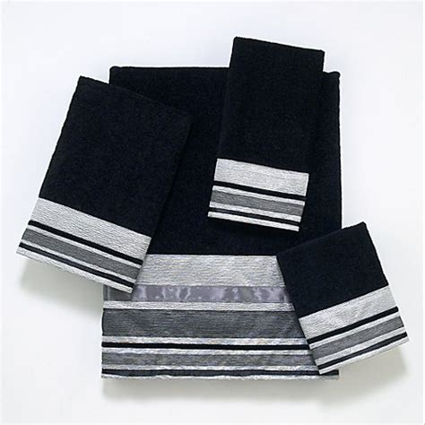 bed bath and beyond geneva avanti geneva bath towel collection in black silver bed