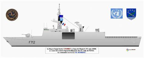 dessin bateau marine nationale courbet f712 fregate
