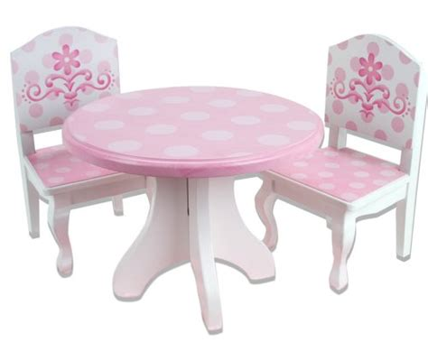 18 Inch Doll Table And Chairs by With Dolls 18 Inch Doll Table Chairs Set Fits
