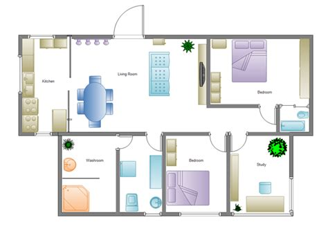 simple house floor plan design building plan software edraw