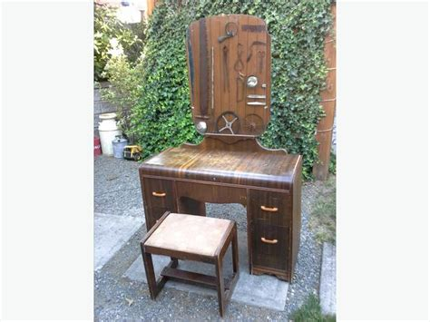 Its All Vanity by 1940s Antique Vanity With Mirror And Stool South Nanaimo