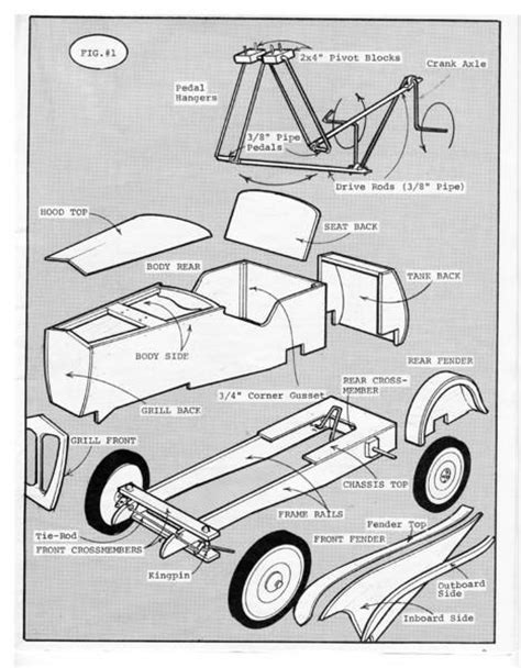17 best images about pedal car plans on cars