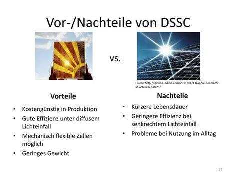 vor nachteile ppt farbstoffsensibilisierte solarzellen powerpoint